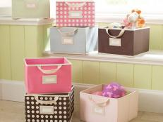 Colorful Canvas Storage Cubes