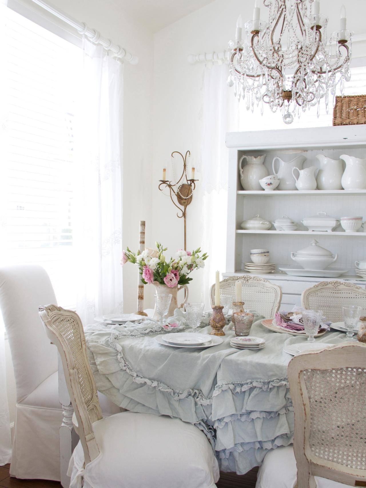 shabby chic dining room photos hgtv