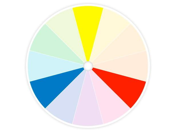 HGTV Color Wheel Shows Primary Colors