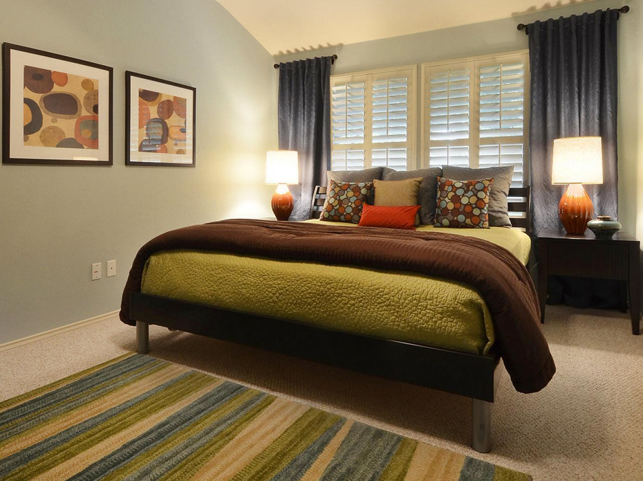 Dreamy bedroom color palettes bedrooms bedroom decorating ideas hgtv Brown and green master bedroom ideas