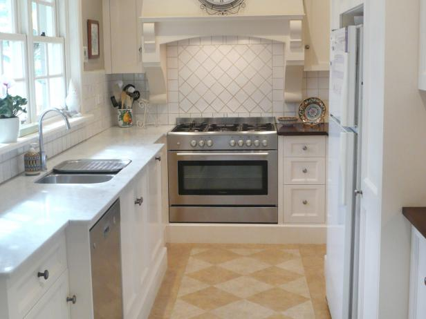French country galley kitchen photos hgtv for Eat in kitchen designs for small kitchen