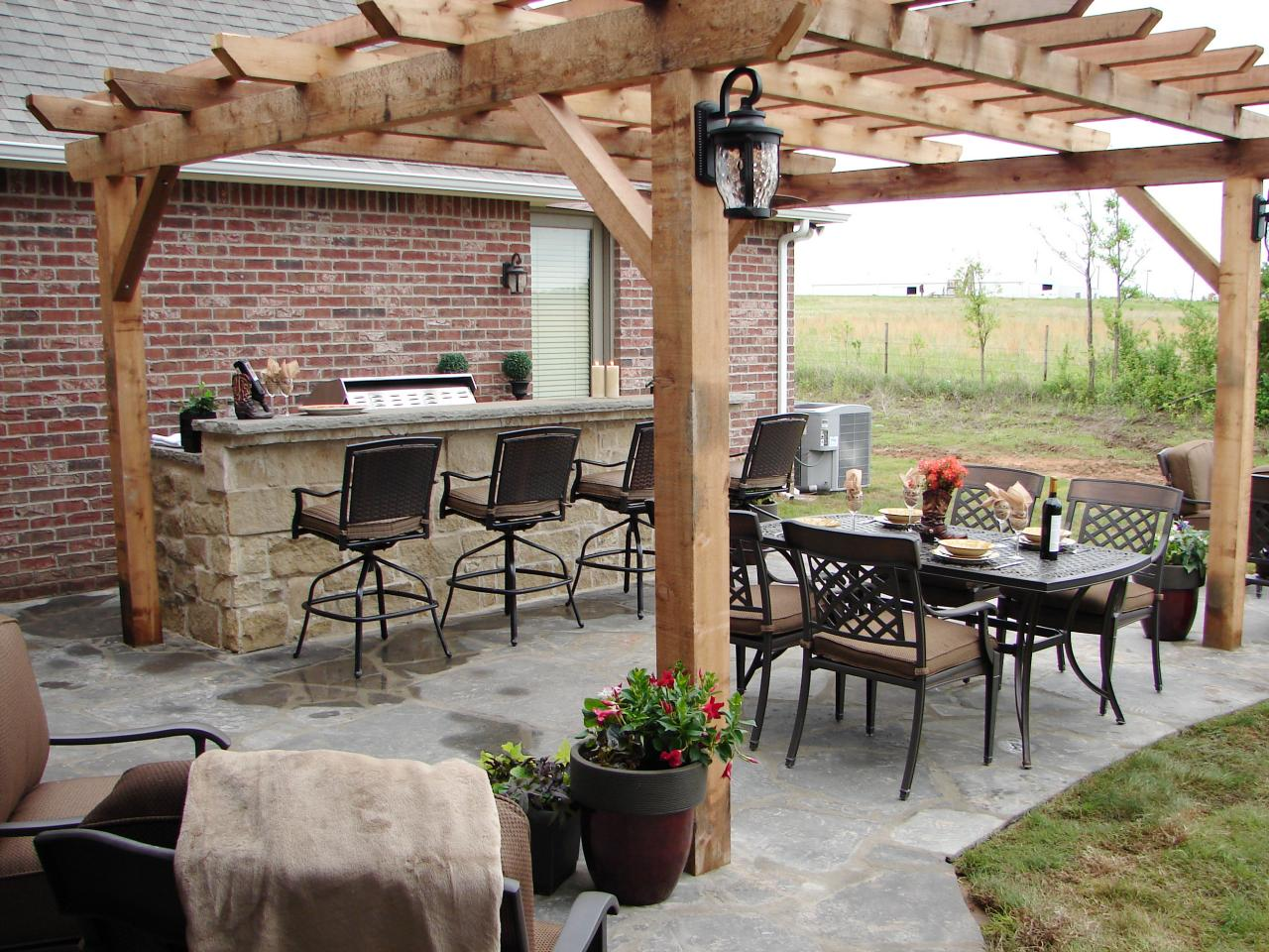 cheap outdoor kitchen ideas hgtv