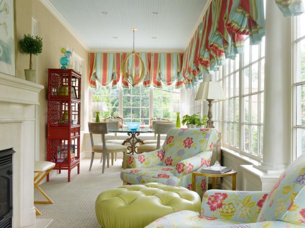 Multicolored Traditional Sunroom