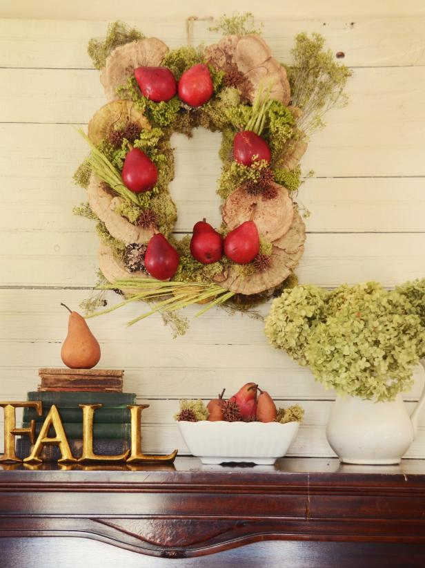 Make a Rectangular Rustic Wreath