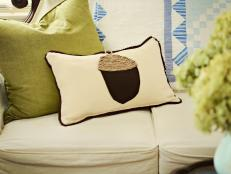 Whip Up a Felt Acorn Pillow