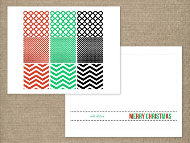 Print Templates for Holiday Ornament Cards