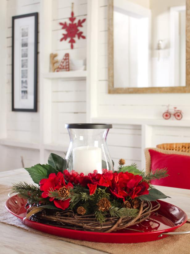 Layered Holiday Centerpiece