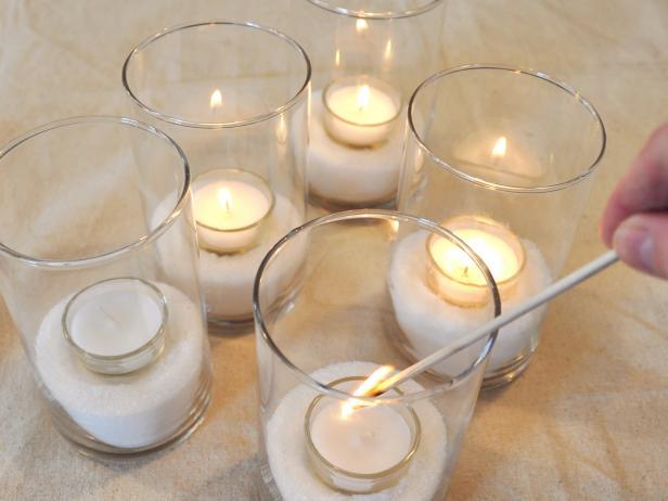 Lighting Votive Candles Glasses