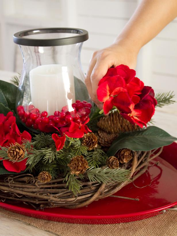 Placing Faux Flowers in a Centerpiece Step 6