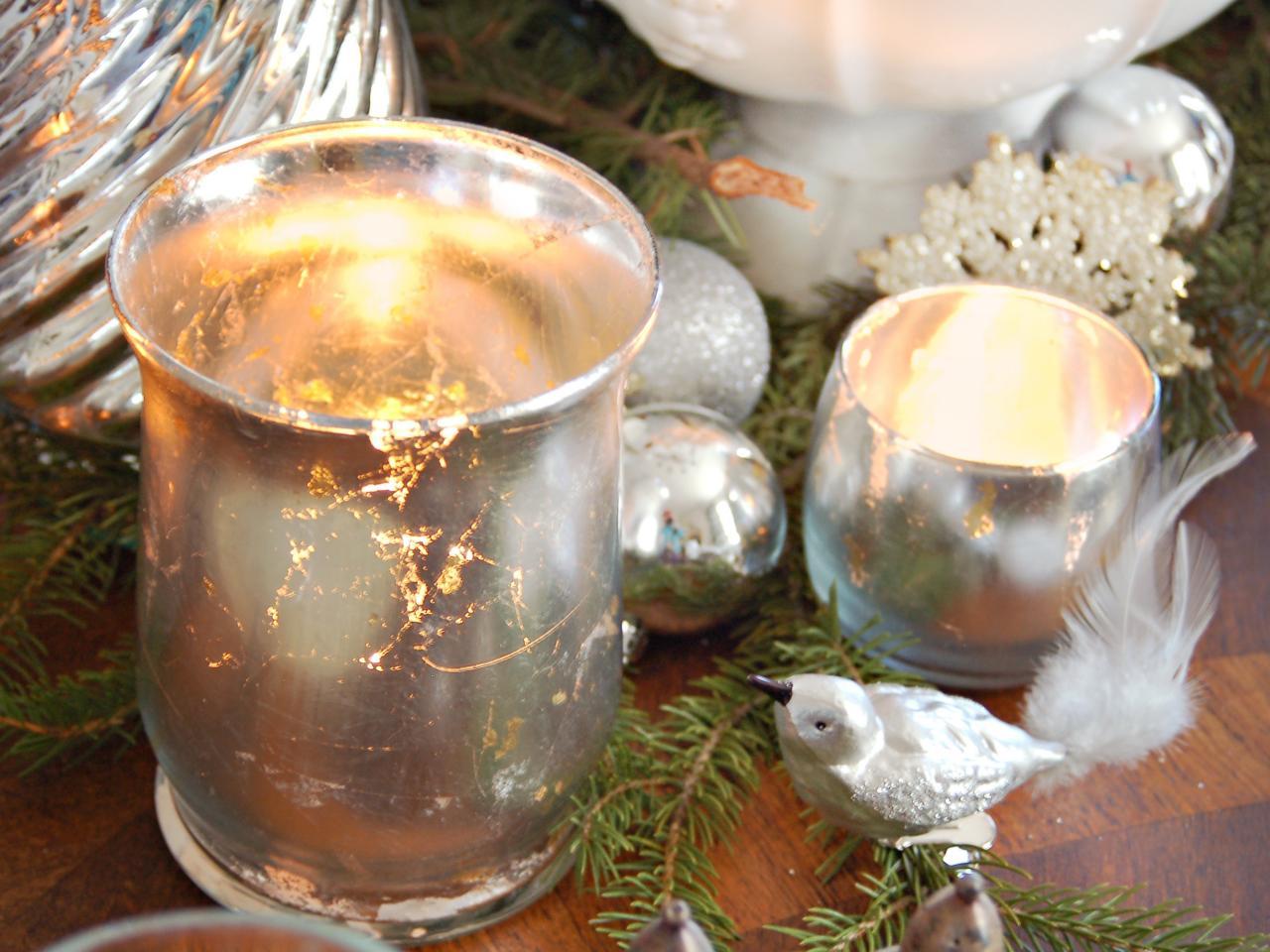 How to make mercury glass votives hgtv for Homemade votive candles