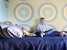Tween Bedroom With Bull's Eye Focal Wall