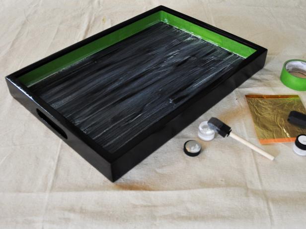 Coating a Bar Tray With Adhesive