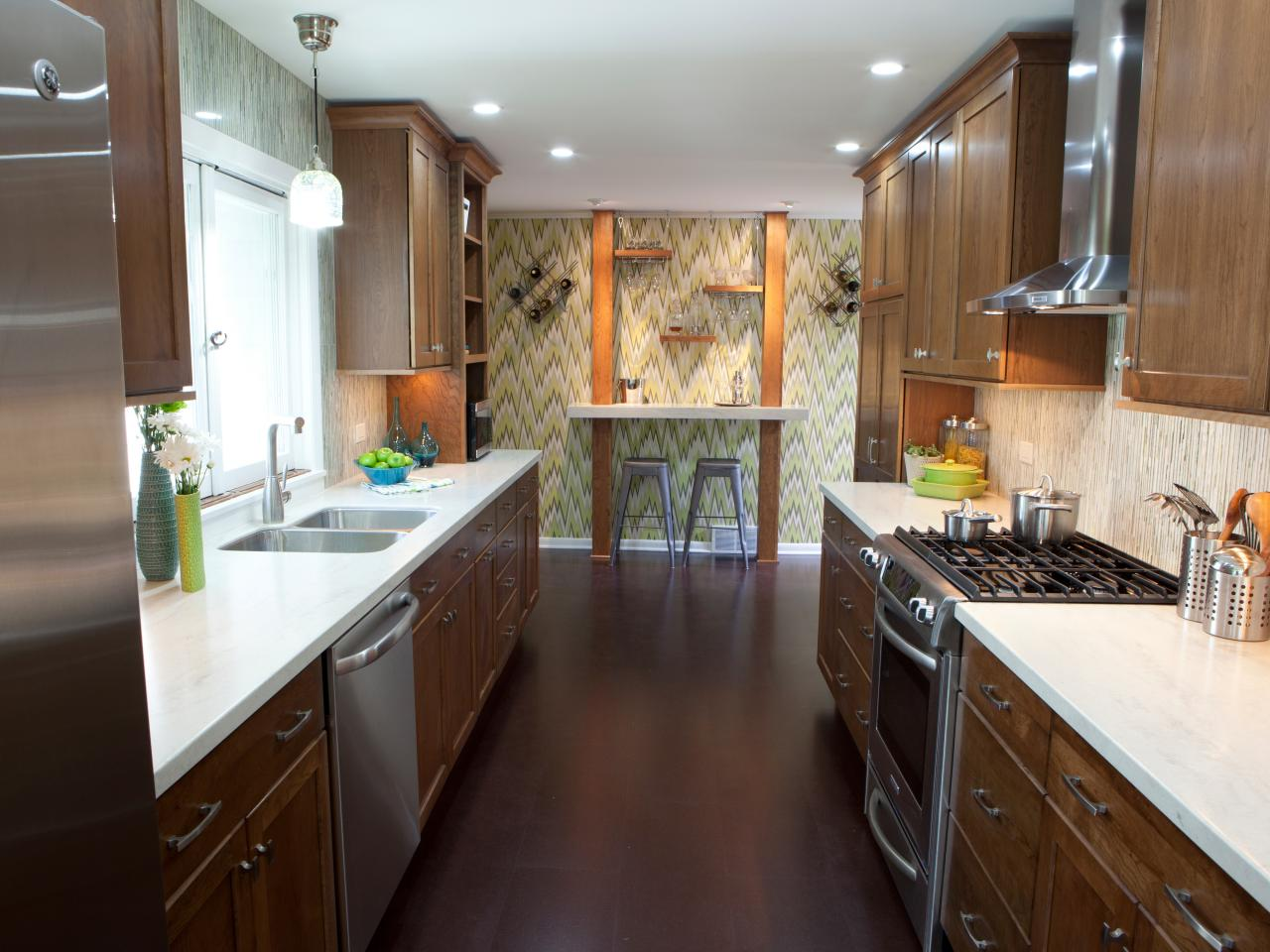 Galley Kitchen Design Layout small kitchen layouts: pictures, ideas & tips from hgtv | hgtv