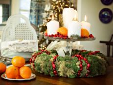 How to Make a Moss and Cranberry Holiday Wreath Centerpiece