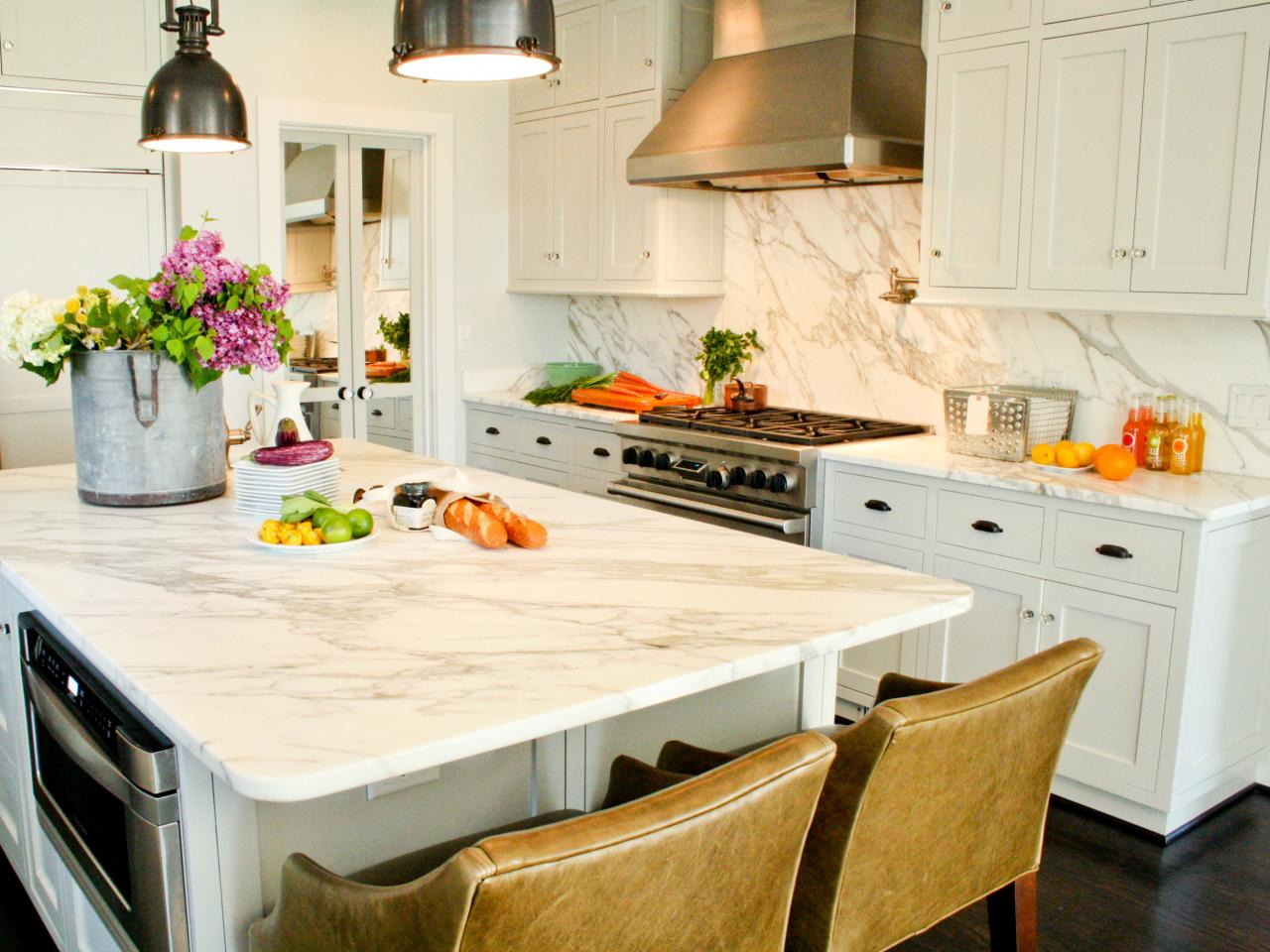 White Quartz Kitchen Countertops quartz: the new countertop contender | hgtv