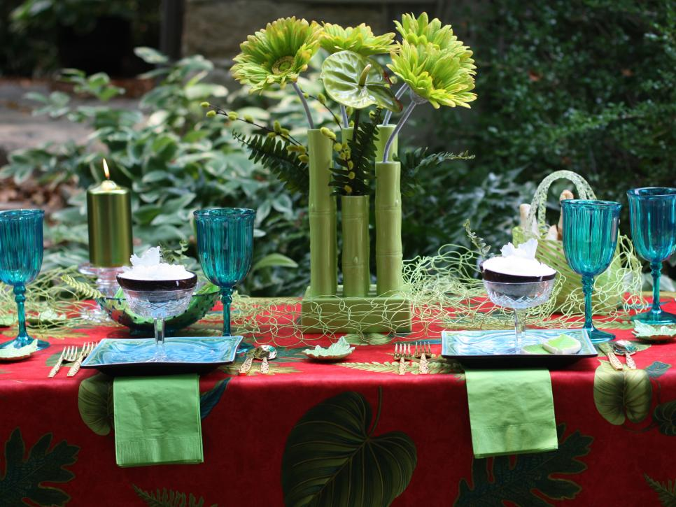 Sizzling themes for an outdoor summer party hgtv for Outdoor summer decorating ideas