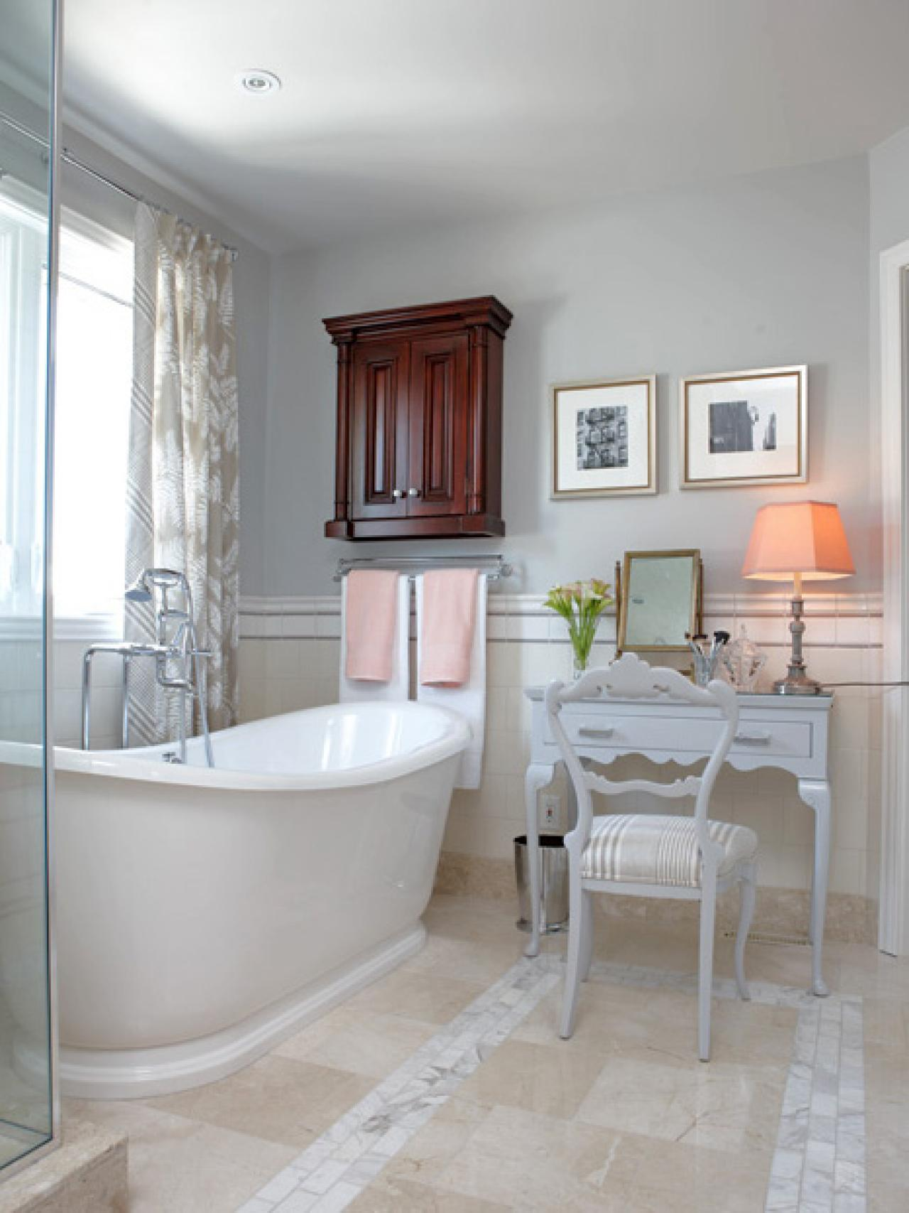 Traditional, White Bathroom
