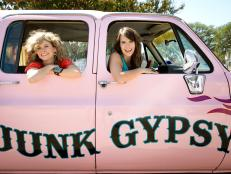 Amie Sikes and Jolie Sikes-Smith in Their Pink Suburban