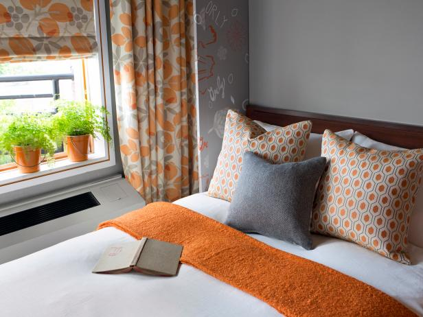 Gray and Orange Bedroom by Brian Patrick Flynn