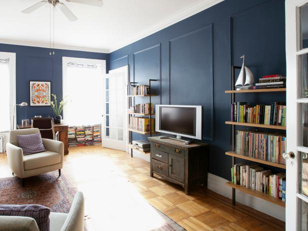 Navy Blue Eclectic Living Space