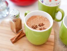Green Mug With Chai Tea and Cinnamon