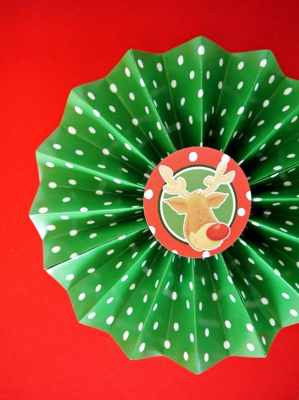 Paper Christmas Rosette