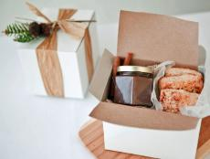Holiday Breakfast Gift Box With Pastries and Pear Butter