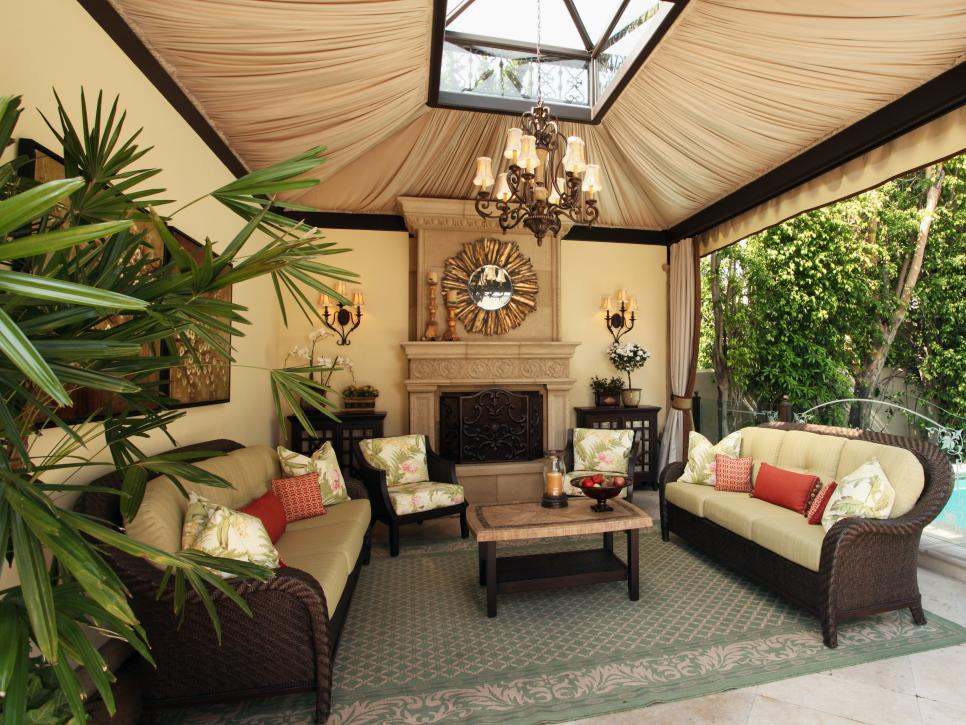 High end outdoor living space christopher grubb hgtv Outdoor living areas images