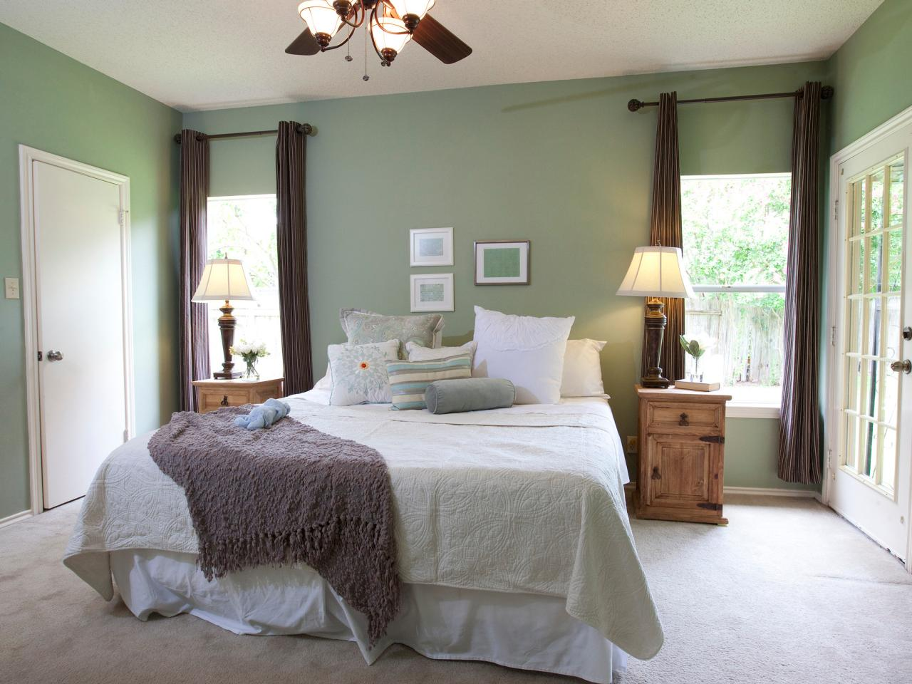 Photo page hgtv - Brown and green bedroom ...