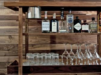 Stylish Wooden Bar Cart