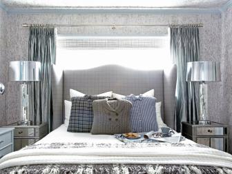 Winter Bedroom With Menswear Pillows