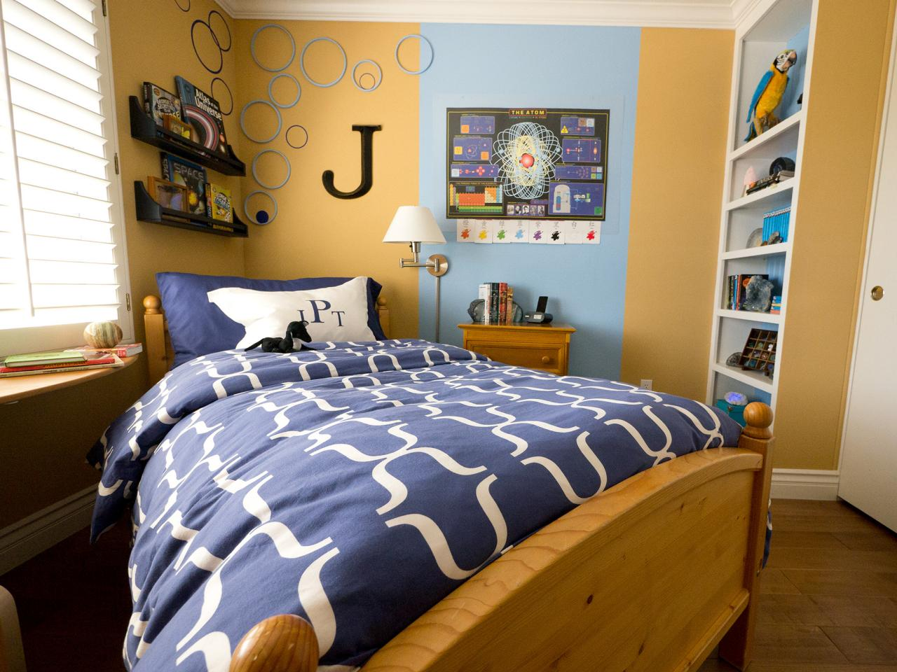 small boy 39 s room with big storage needs kids room ideas for playroom bedroom bathroom hgtv. Black Bedroom Furniture Sets. Home Design Ideas