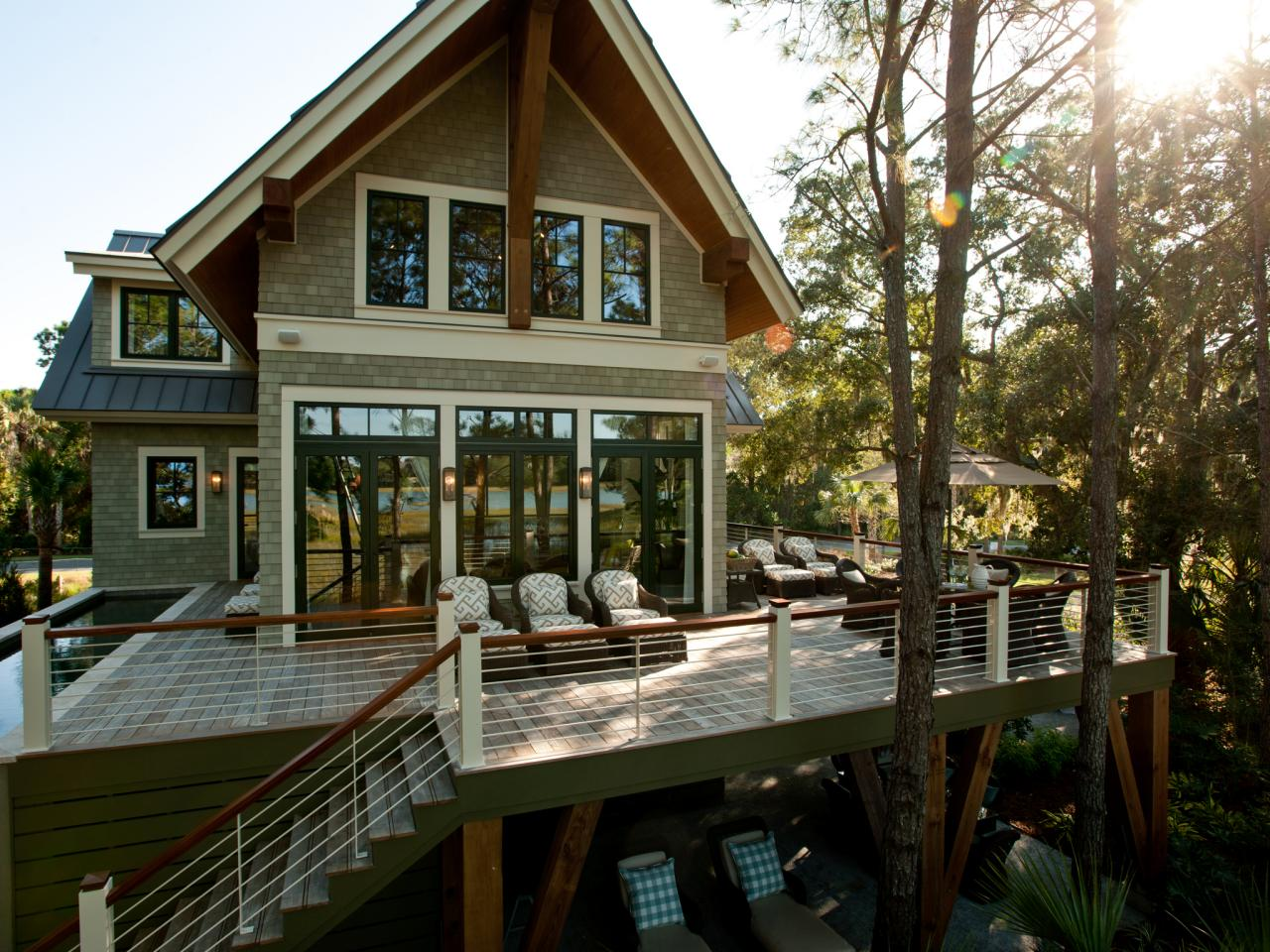 Photos hgtv for Two story deck