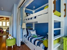 Blue Kids' Bedroom With Bunk Beds