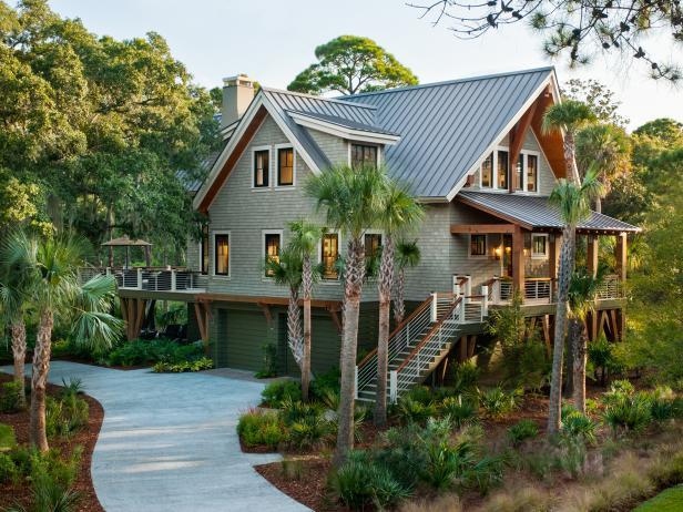 Lushly Landscaped Southern Coastal Home