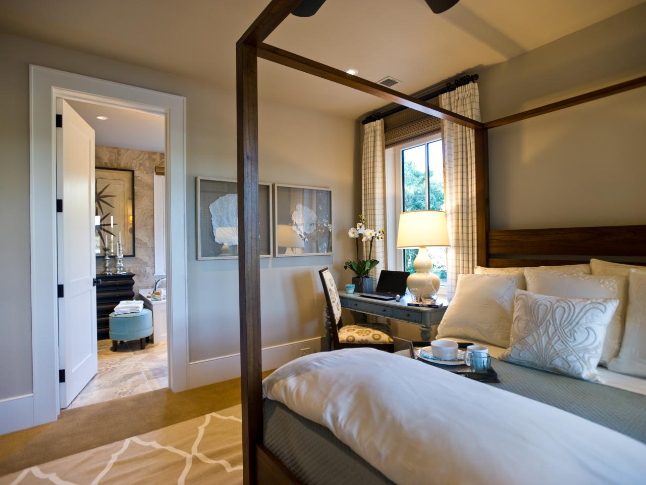 Within Easy Reach Of The Master Suite Bathroom This Haven For Rest And Relaxation Boasts Side