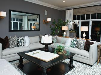 Gray Living Room With Bold Accents