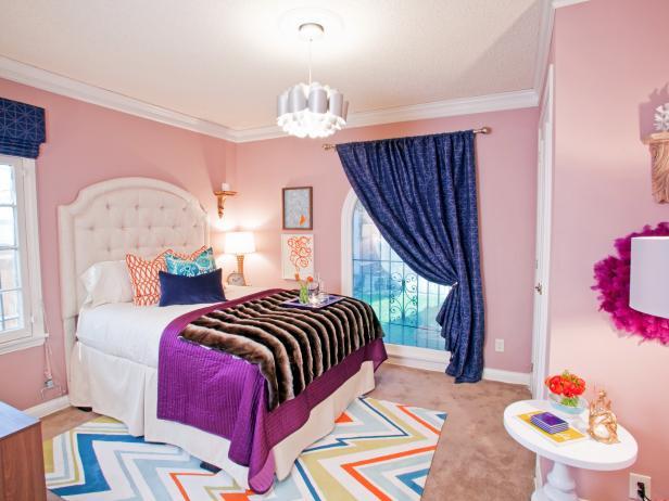 Modern and Feminine Pink Bedroom