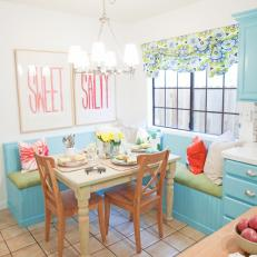 Blue Kitchen Breakfast Area