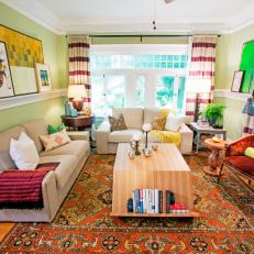 Eclectic Craftsman-Style Living Room