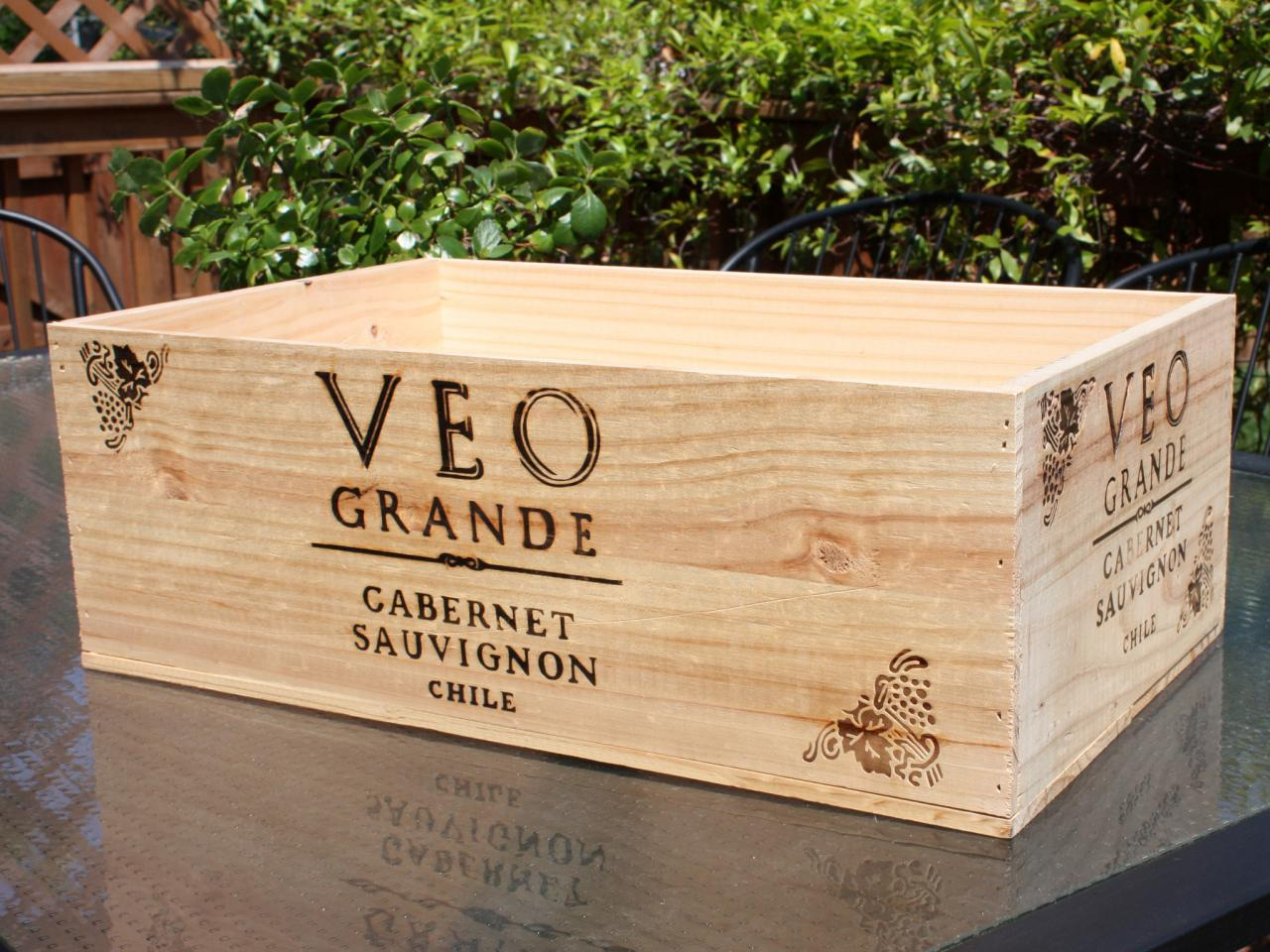 Transform a wine crate into a decorative storage box hgtv What to do with wine crates