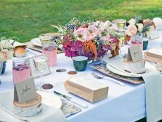 Rustic Table Setting for Winter Picnic