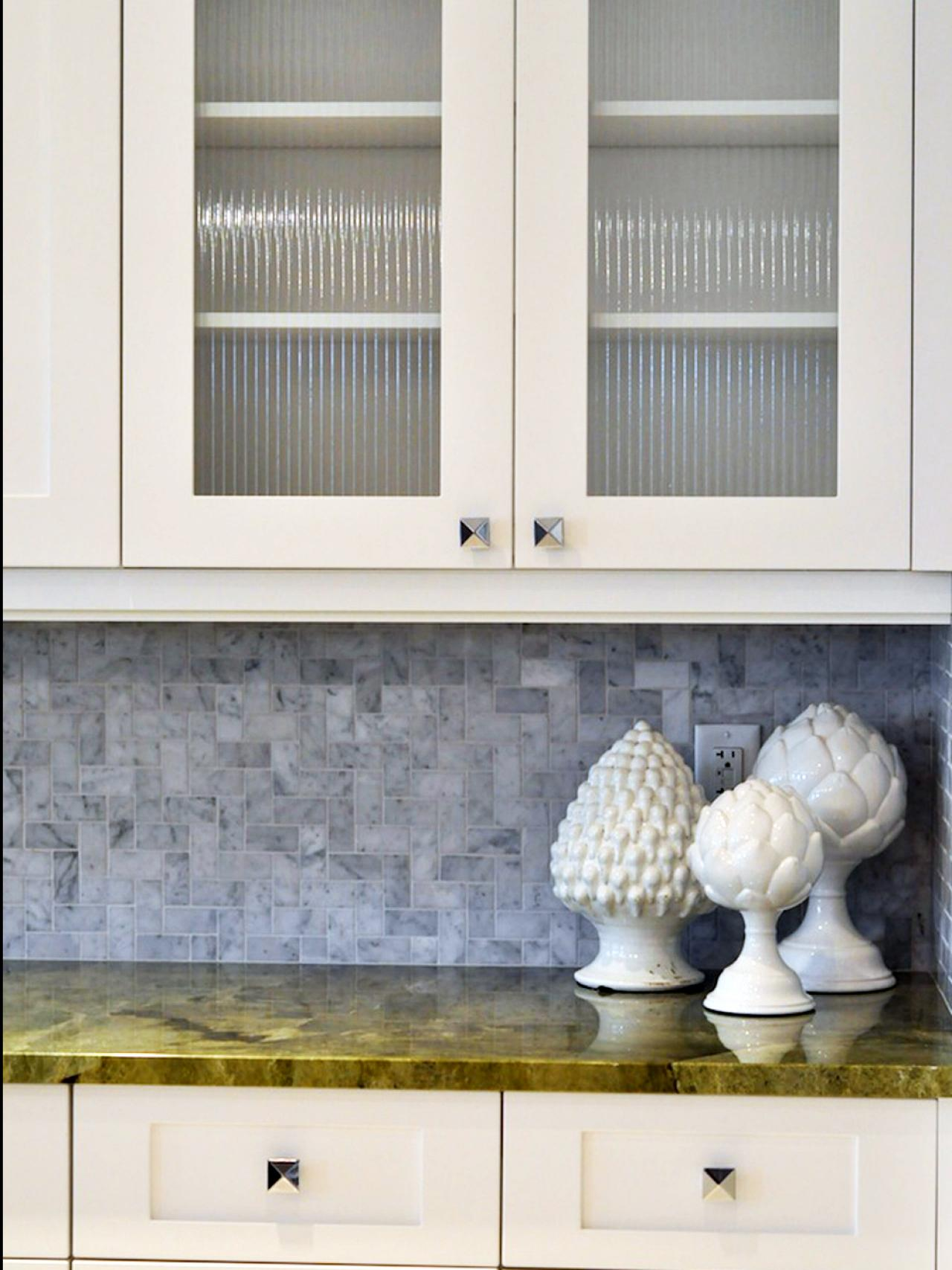 Grey kitchen cabinets with green backsplash quicua contemporary dailygadgetfo Choice Image