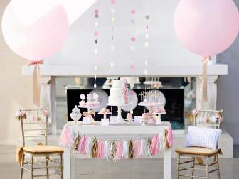 Pink and Gold Party Decor