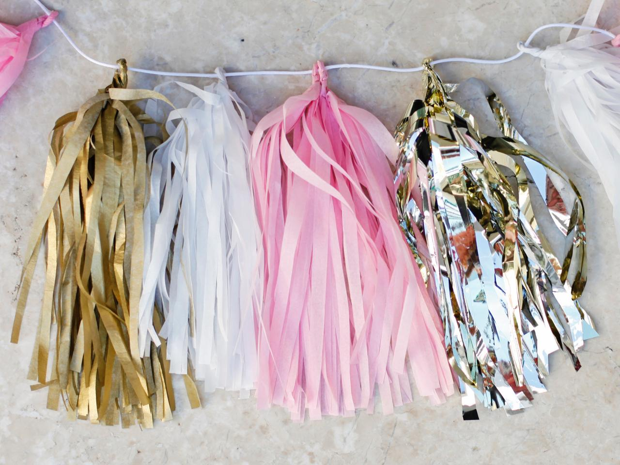 Tissue paper tassel tutorial - Create More Tassels And Finish Garland