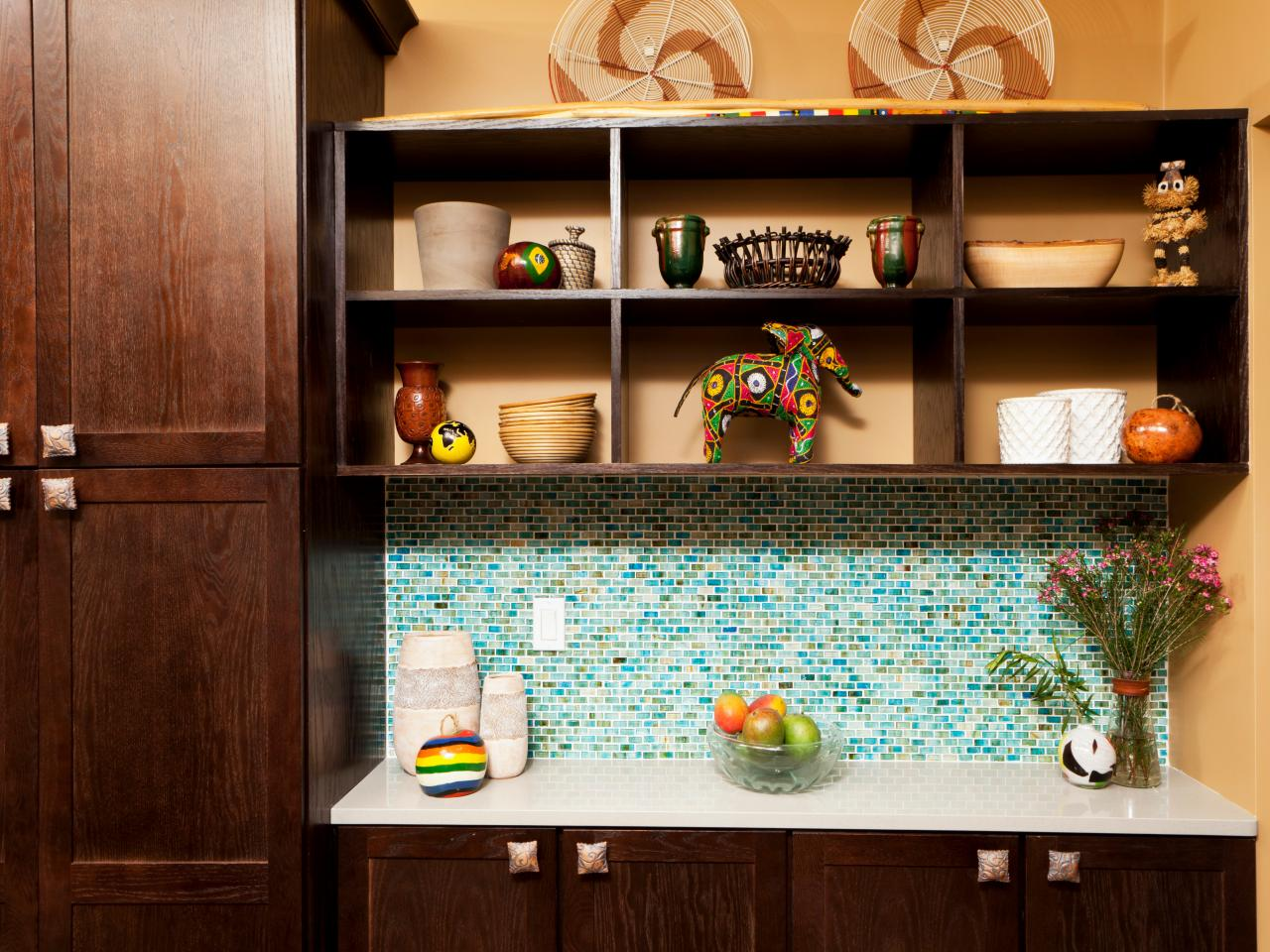 Glass Tile Backsplash Ideas: Pictures & Tips From HGTV