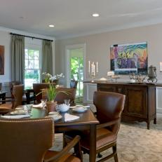 Traditional Neutral Dining Room With Buffet