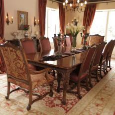 Traditional Dining Room With Oriental Rug Part 92