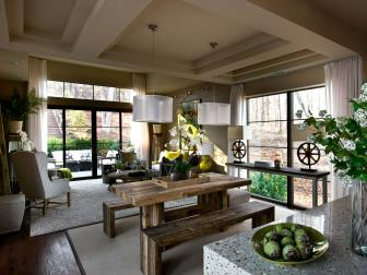 Neutral Living Room With Courtyard View