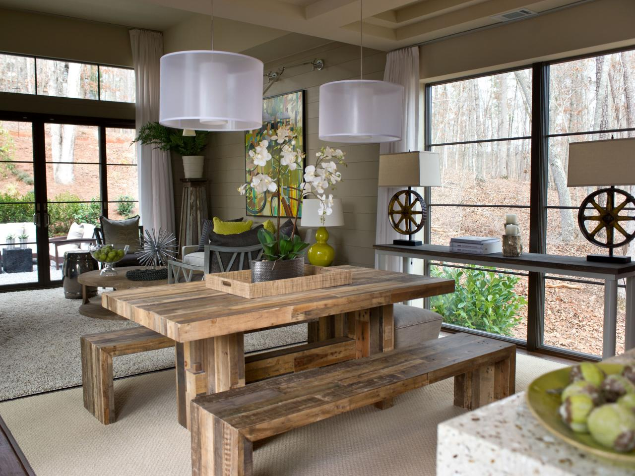 Rustic dining room photos hgtv for Rustic dining room